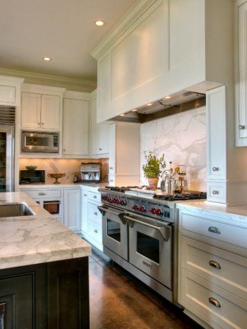厨房绿色背景墙美式风格装饰设计图片