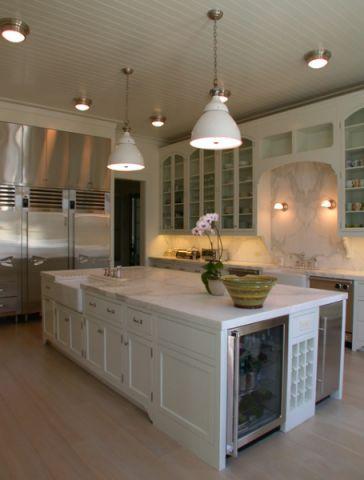 厨房米色背景墙美式风格装潢设计图片