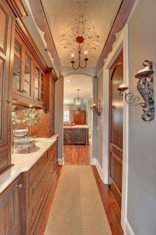 厨房走廊美式风格装修图片