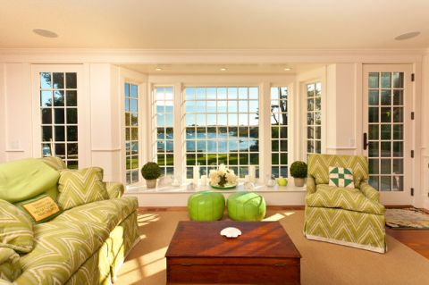 客厅窗台美式风格装修效果图