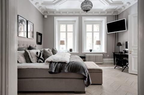 客厅灰色沙发简欧风格装饰效果图