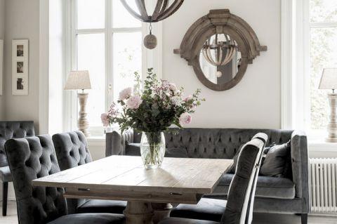 餐厅灰色细节简欧风格装修设计图片