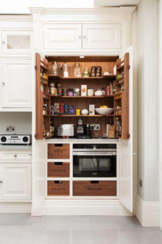厨房白色橱柜简欧风格装饰设计图片