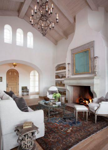 客厅白色吊顶简欧风格效果图