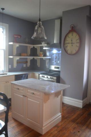 厨房白色厨房岛台简欧风格装饰效果图