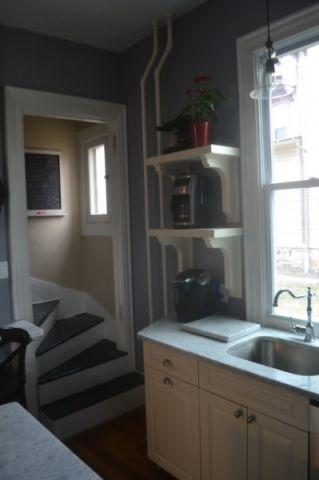 厨房灰色走廊简欧风格装潢效果图