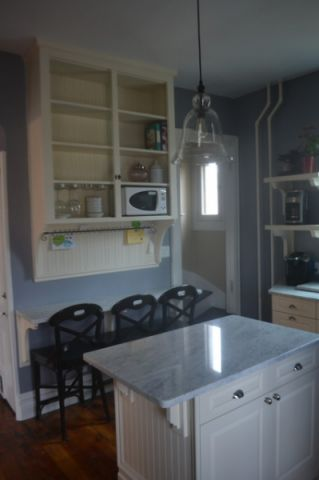 厨房白色厨房岛台简欧风格装饰图片