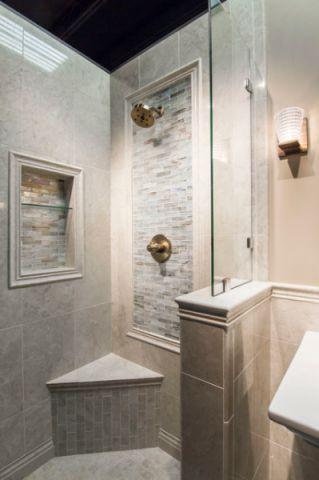 卫生间灰色背景墙简欧风格效果图