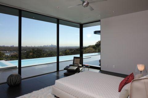卧室黑色飘窗现代风格装潢图片