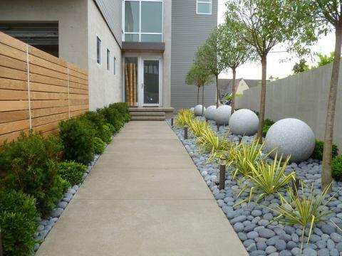 花园细节现代风格效果图