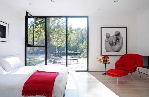 卧室推拉门现代风格装潢设计图片
