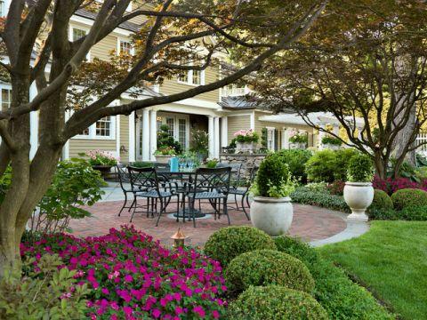 花园餐桌美式风格装修图片