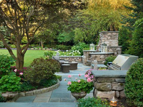 花园细节美式风格装饰图片
