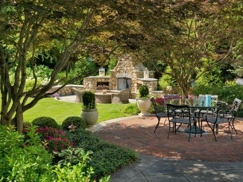 花园餐桌美式风格装修设计图片