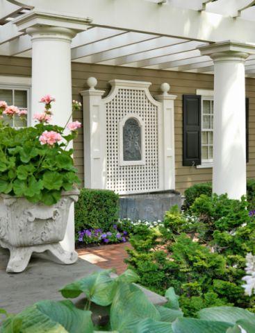 花园细节美式风格装潢设计图片