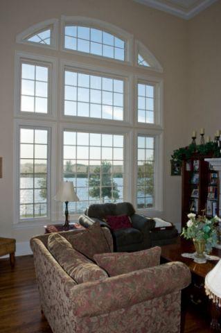 客厅飘窗美式风格装饰设计图片