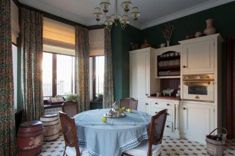 厨房餐桌简欧风格装潢效果图