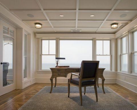 书房书桌简欧风格装饰设计图片