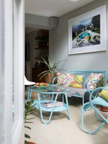 客厅沙发简欧风格装潢效果图