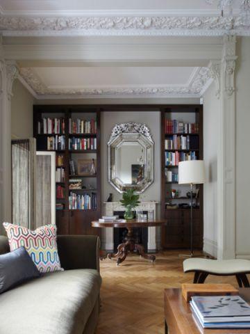 客厅书架简欧风格装饰图片