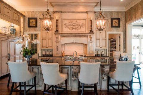 厨房厨房岛台简欧风格装修效果图
