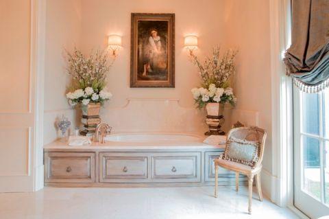 浴室浴缸简欧风格装饰效果图
