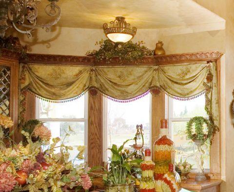 厨房窗帘简欧风格装修设计图片