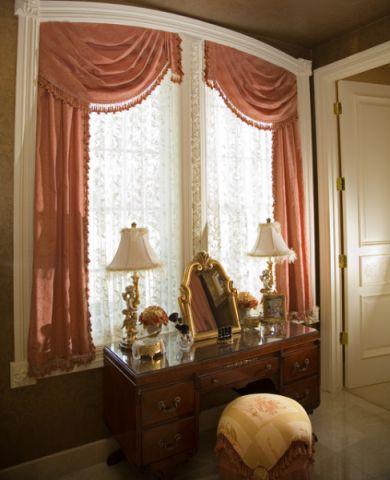 卫生间窗帘简欧风格装饰效果图