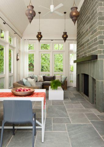 客厅地砖简欧风格装饰设计图片