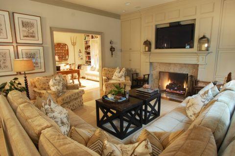 客厅茶几简欧风格装饰设计图片