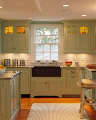 厨房橱柜简欧风格装修设计图片