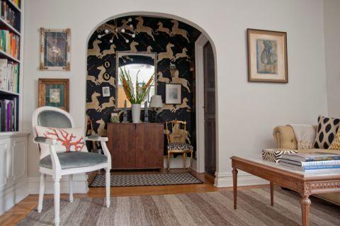 客厅白色细节混搭风格装修效果图