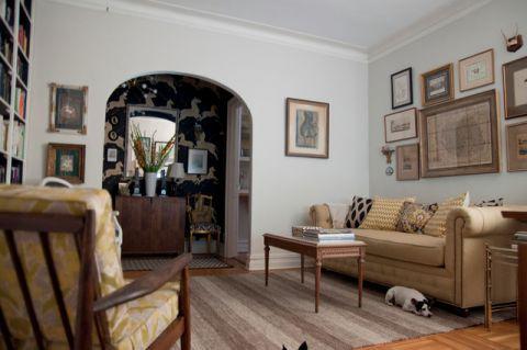 客厅米色细节混搭风格装修图片