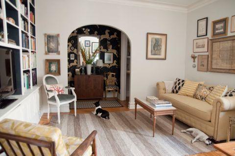 客厅灰色细节混搭风格装潢图片