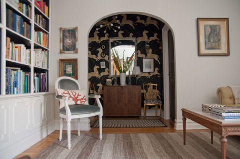 客厅白色细节混搭风格装饰设计图片