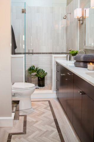 卫生间红色橱柜现代风格装饰设计图片