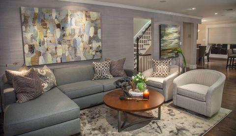 客厅白色细节现代风格装饰图片