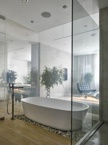 浴室白色细节现代风格装饰图片