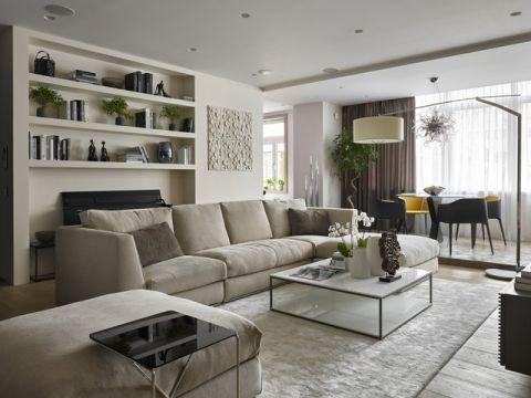 客厅灰色细节现代风格装潢设计图片