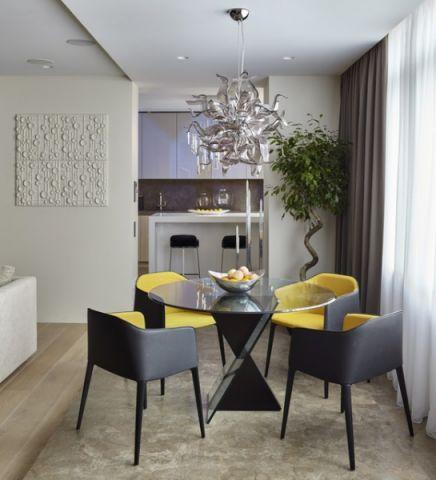 餐厅黄色细节现代风格装饰效果图