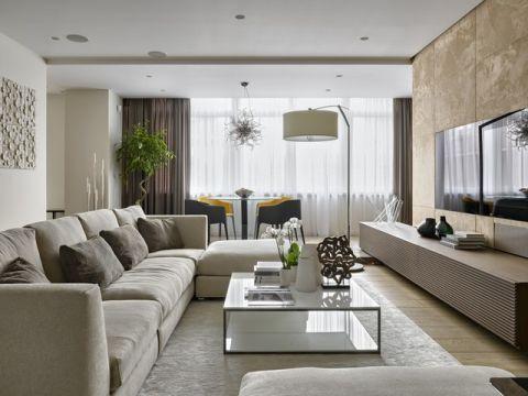 客厅白色细节现代风格装潢效果图