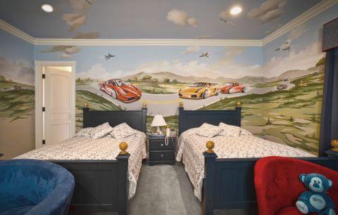 儿童房背景墙简欧风格效果图