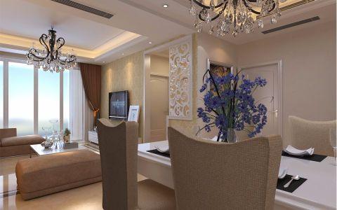 东方曼哈顿90平米现代风格二居室装修效果图