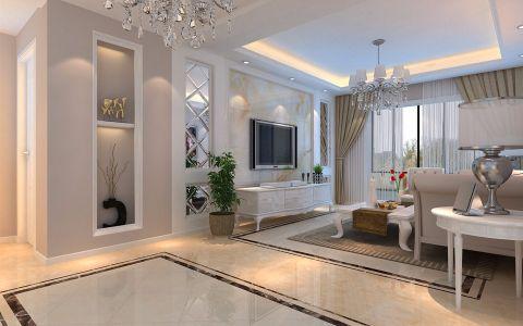 东方名城108平米现代风格三居室装修效果图