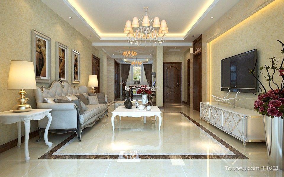 碧水西庭120平米混搭风格三居室装修效果图