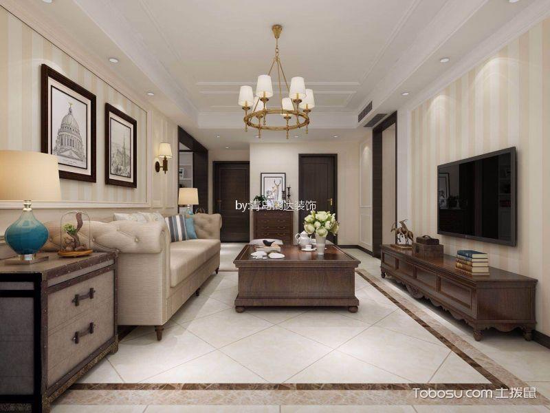 118平美式二居室装修效果图