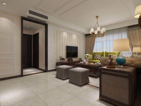 客厅窗帘美式风格装饰图片
