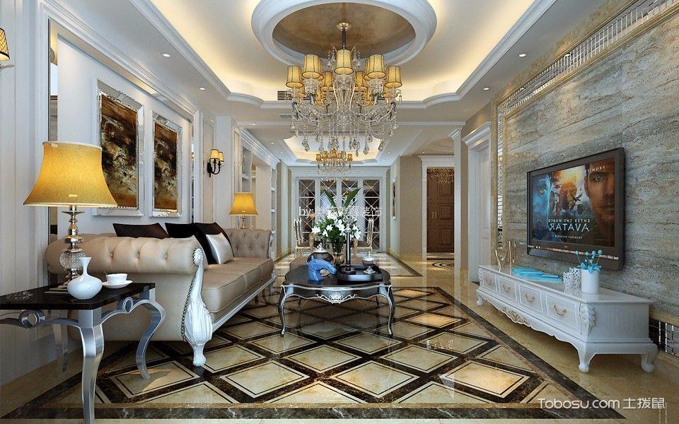135平米朗悅華府歐式三居室裝修效果圖