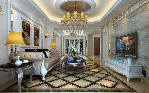 135平米朗悦华府欧式三居室装修效果图