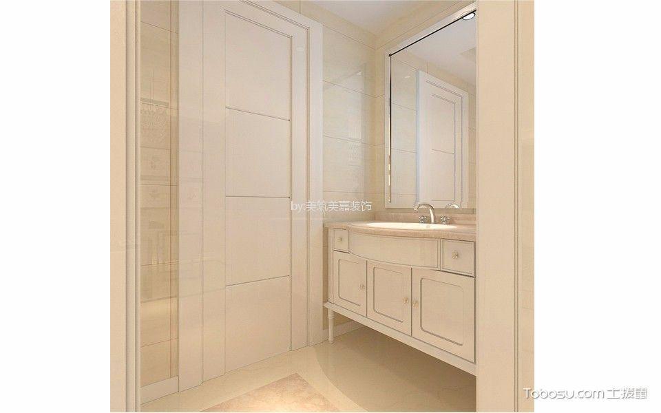 卫生间白色梳妆台现代风格装饰效果图